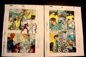 ROBIN #66-ORIGINAL COLOR GUIDES-ART-PGS 11-12