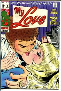 My Love #3 1970-Marvel-John Romita-spicy-John Buscema-FN