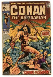 Conan the Barbarian #1 1970 -- BRONZE AGE KEY--MARVEL BARRY SMITH-g/vg