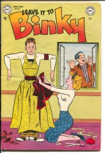 Leave It To Binky #25 1952-DC-man in drag cover-teen humor-rare-VG-