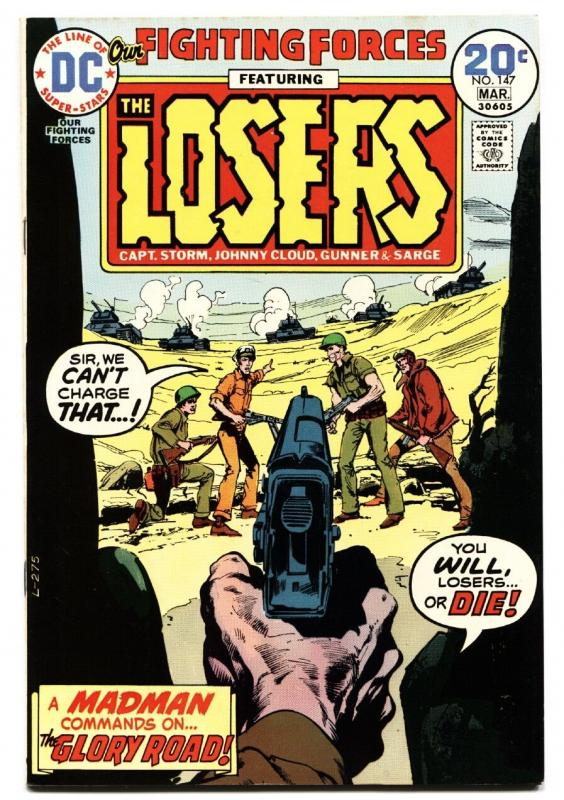 OUR FIGHTING FORCES #147 1974-DC-THE LOSERS-CAPT STORM-JOE KUBERT vf