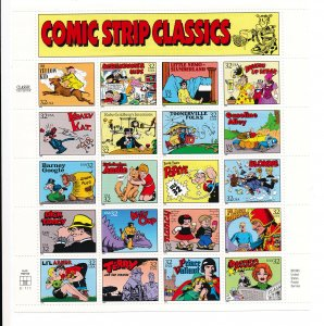 Comic Strip Classics US Postage Stamps, Mint sheet, never hinged, 1995