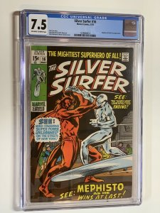 Silver Surfer 16 Cgc 7.5 Ow/w Pages Marvel Silver Age