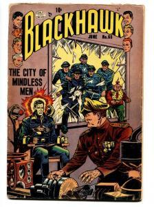 BLACKHAWK COMICS #65-Electric chair cvr-QUALITY-1953-REED CRANDALL ART--fr