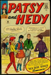 PATSY AND HEDY #90 PAPER DOLLS FASHIONS 1963 MARVEL G/VG
