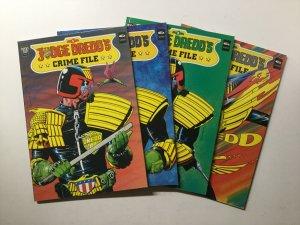 Judge Dredd's Crime File Book 1-4 1 2 3 4 Tpb Lot Nm 2000 AD Fleetway Quality