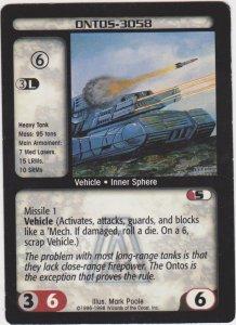 1998 Battletech Arsenal Card Ontos-3050