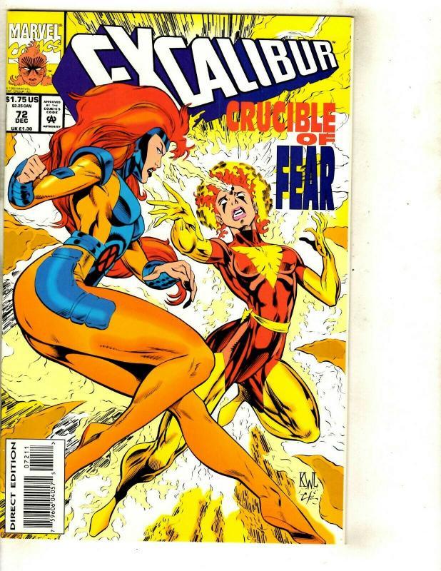 12 Excalibur Deluxe Marvel Comics # 61 62 63 64 65 66 67 68 69 70 71 72 JF26
