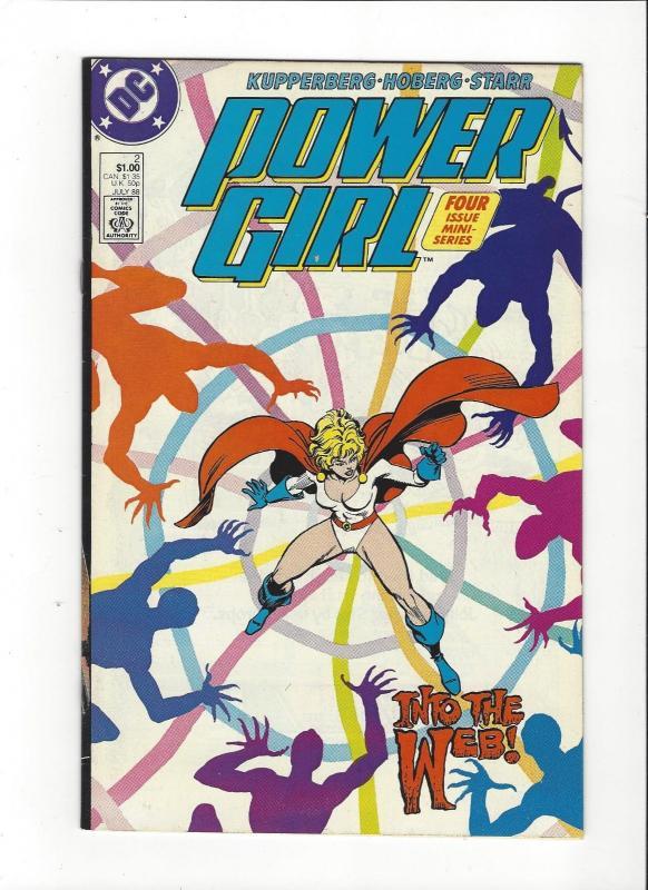 POWER GIRL #2 1988 DC JSA COPPER AGE COMIC  NM Nice Copy