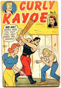 CURLY KAYOE #5-SAM LEFF-HEADLIGHT COVER-BOXING COMICS VG