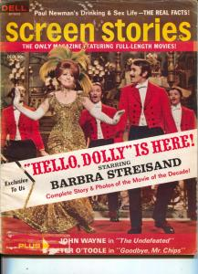 Screen Stories-Barbra Streisand-John Wayne-Peter O'Toole-Dec-1969