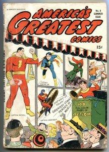 America's Greatest Comics #8 1943- Captain Marvel- Spy Smasher G/VG