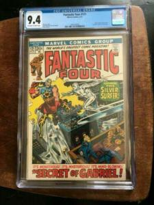 FANTASTIC FOUR #121 CGC 9.4 NM 2ND APP AIR WALKER - SILVER SURFER BRONZE AGE KEY