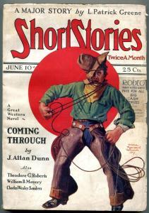 Short Stories Pulp June 10 1927- J Allan Dunn- L Patrick Greene VG-