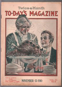 To-Day's Magazine 11/15/1910-Thanksgiving-E.G. Waskov-pulp fiction-FN