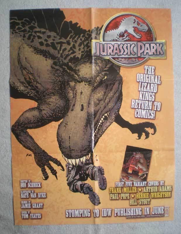 JURASSIC PARK Promo Poster, Dinosaurs, 18x24, 2010, Unused, more Promos in store