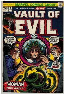 VAULT OF EVIL (1973) 3 VG-F  June 1973