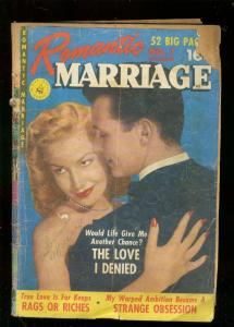 ROMANTIC MARRIAGE #7 1951-PHOTO COVER-BARGAIN READING P/FR