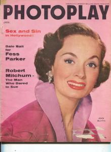Photoplay-Robert Mitchum-Ann Blyth-Rock Hudson-Burt Lancaster-Jan-1956