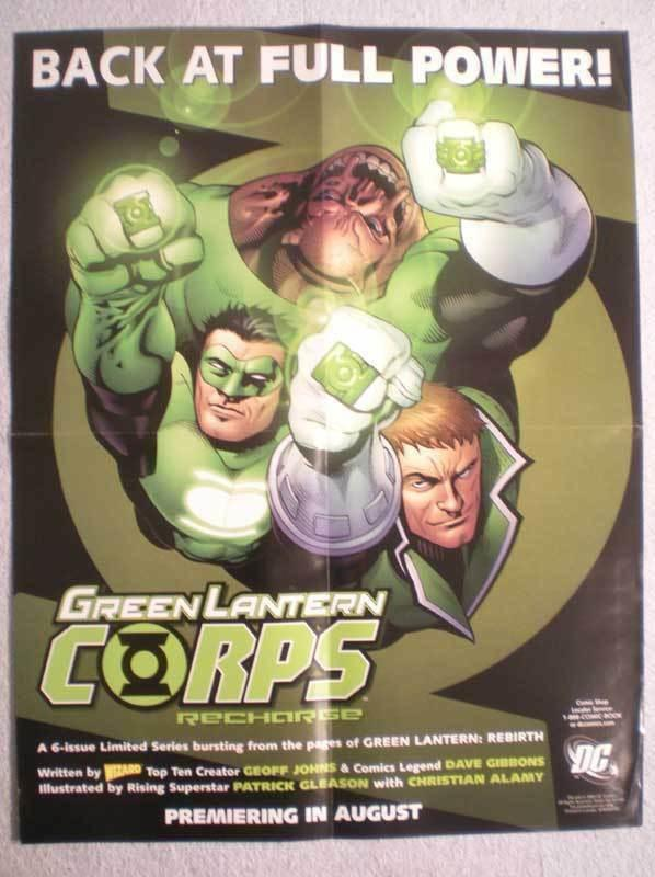 GREEN LANTERN RECHARGE Promo poster, 17x22, Unused, more Promos in store