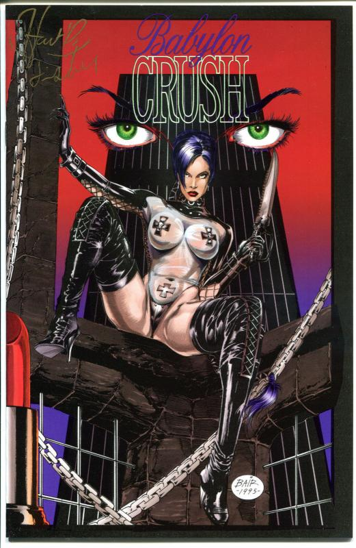 BABYLON CRUSH #1, NM-, Femme Fatale, Signed Hart Fisher, 1995, more in store
