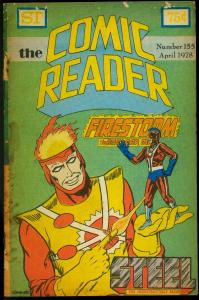 The Comic Reader Fanzine #155 1978- Firestorm cover G