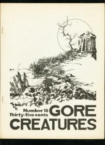 GORE CREATURES FANZINE #18 1971-FRANKENSTEIN-PETER CUSHING-BODY SNATCHERS VG/FN