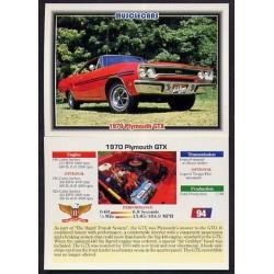 1992 Collect-A-Card Musclecars 1970 PLYMOUTH GTX #94