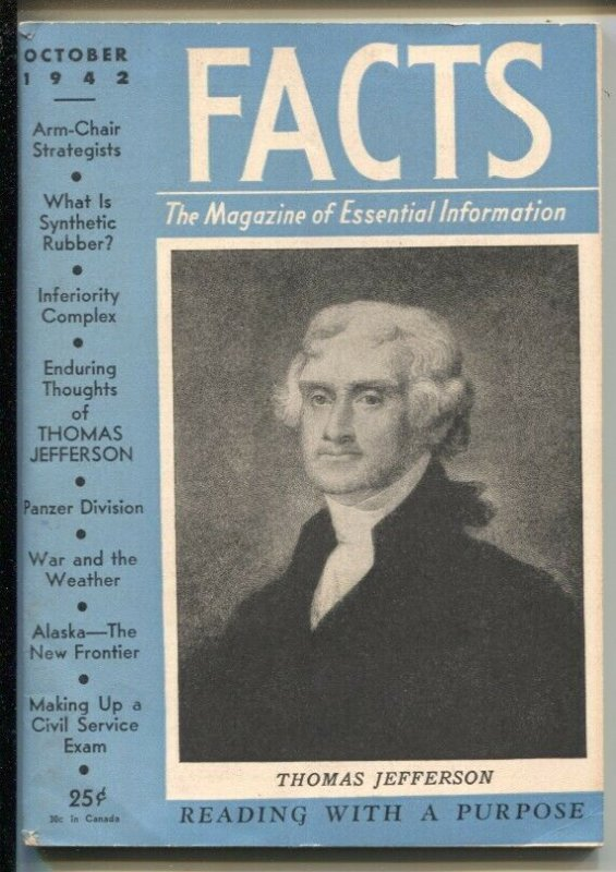Facts-The Magazine of Essential Information #1 10/1942-1st issue-Jefferson-Pa...
