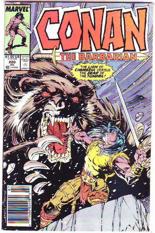Conan the Barbarian #220 (Jul-89) VF High-Grade Conan the Barbarian