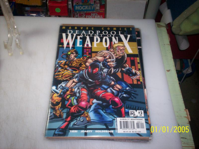 1997 marvel deadpool agent of weapon x #2