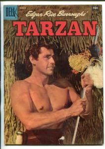 TARZAN #90-1957-DELL-GORDON SCOTT COVER- BURROUGHS- MARSH- MANNING-vg