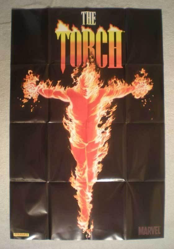 THE TORCH Promo Poster, Alex Ross, 24x36, 2009, Unused, more in our store