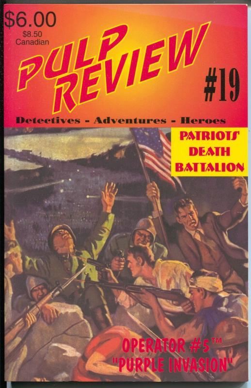 Pulp Review #19 1995-Adventure House-reprints Operator #5 pulp-VF/NM