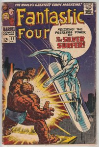 Fantastic Four #55 (Oct-66) VG Affordable-Grade Fantastic Four, Mr. Fantastic...