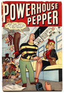 POWERHOUSE PEPPER #4 1948-TIMELY-BASIL WOLVERTON ART-SCARCE ISSUE-g-