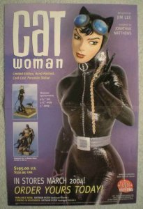 CATWOMAN STATUE Promo poster, 11x17, 2004, Unused, more Promos in store