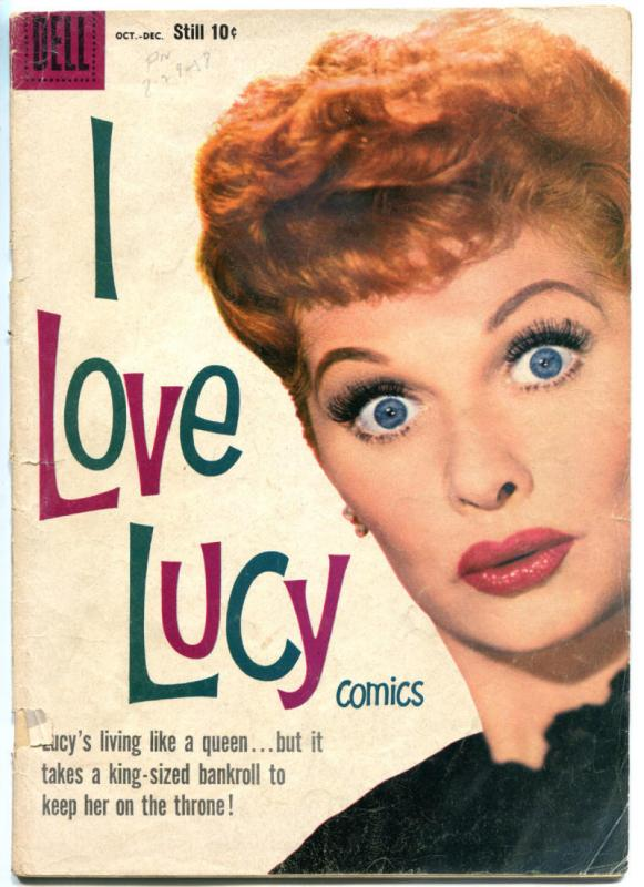 I LOVE LUCY #21, GD/VG, Lucille Ball, Dell, 1958, Photo Cover, more TV in store