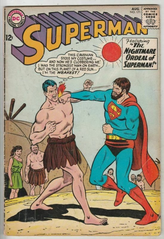 Superman #171 (Aug-64) VG+ Affordable-Grade Superman, Jimmy Olsen,Lois Lane, ...