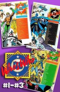Aquaman! Batman! Blue Beetle!  WHO'S WHO: DEFINITIVE DIRECTORY of DCU #1 to #3