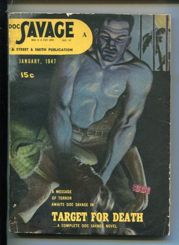 Doc Savage Pulp January 1947- John D MacDonald- Target for Death