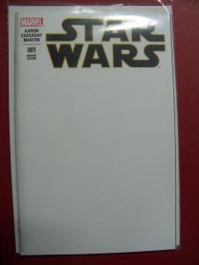 STAR WARS #001 BLANK VARIANT  COVER NEAR MINT 9.4 MARVEL COMICS 2015 SERIES