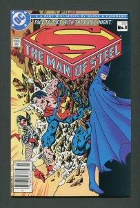 Man of Steel #3 /  7.5 VFN-  Newsstand  November 1986