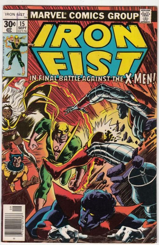 Iron Fist #15 (Sep-77) VF/NM- High-Grade Iron Fist