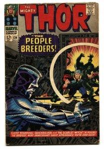 THOR #134 1966-MARVEL KIRBY INTRO HIGH EVOLUTIONARY VG