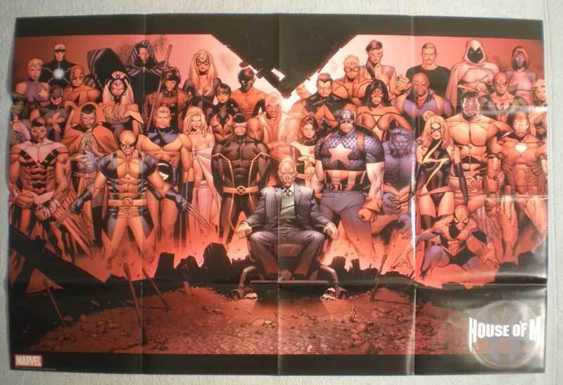 HOUSE OF M Promo Poster, Wolverine, 36x24, 2005, Unused, more Promos in store