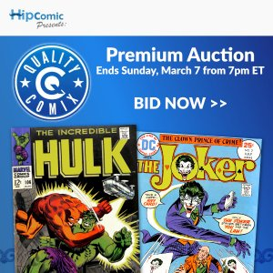Quality Comix Premium Auction Event #12