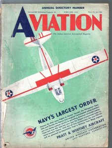Aviation 2/1940-Pre-WWII-aircraft-photos & info-100+ pages-G