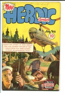 HEROIC COMICS #43 1946-INGLES AND TOTH-HELLICOPTER CVR FN