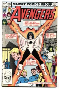 Avengers #227 1982 Captain Marvel Monica Rambeau joins the Avengers NM-